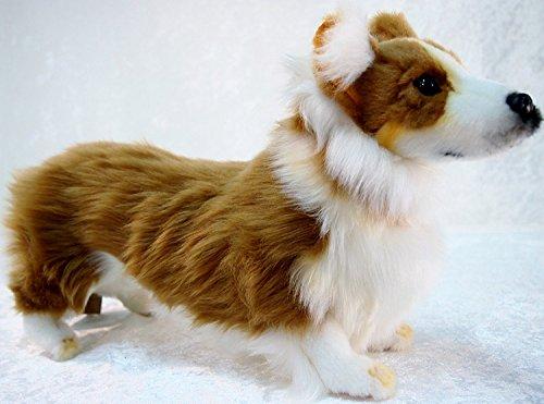 """Hansa Welsh Corgi Plush Dog 13.7"""" Long X 9"""" High from Hansa"""