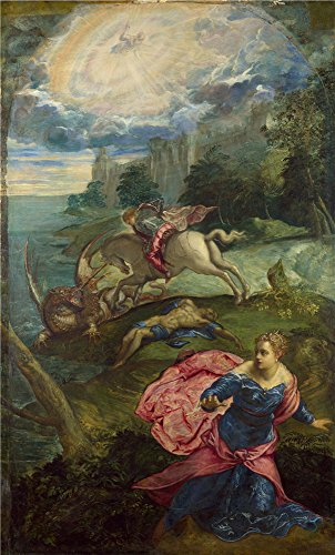 Girl Minion Costumes In Stock ('Jacopo Tintoretto Saint George And The Dragon ' Oil Painting, 12 X 20 Inch / 30 X 51 Cm ,printed On Perfect Effect Canvas ,this Replica Art DecorativeCanvas Prints Is Perfectly Suitalbe For Dining Room Decor And Home Gallery Art And Gifts)