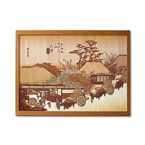 KINOWA Ukiyoe Art Kit Kiharie The Running Well Teahouse at Otsu by Hiroshige Made in Japan by KINOWA (Image #7)