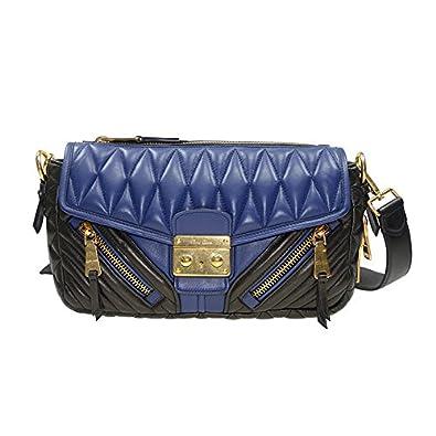 NEW MIU MIU HANDBAG RR1903 2A9F F017C LAMBSKIN DARK BLUE Shoulder Bag Messenger  Bag  Amazon.co.uk  Shoes   Bags d5a38442fe908