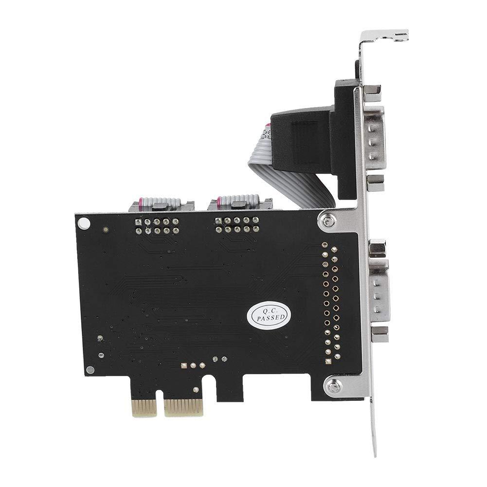 Zerone PCI-E A RS232/Carte PCI Express /à 2/Ports Carte Adaptateur pour Windows 2000//XP//Server 2003//XP 64-bit//Vista//7//8//Linux//deux//MAC