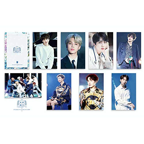 Nuofeng - Kpop BTS Lomo Card World 5th Muster 2019 Photocards Card Sticker Paper Postcard Set Gift for A.R.M.Y 8pcs(H04) (Best Rapper In The World 2019)