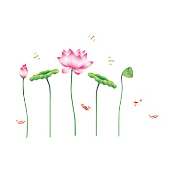 Amazon Com Vorcool Wall Stickers Lotus Leaf 3d Wall Stickers Decals