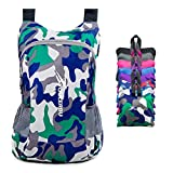 YOULERBU Light Packable Backpack,25L Daypack Waterproof Duarble Foldable Day Pack Carry on Bag Travel Outdoor Hiking for Women Men Camo