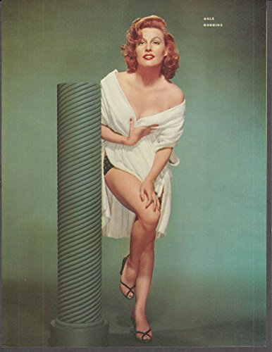 Actress Gale Robbins Towel Over Panties Pin Up 1953