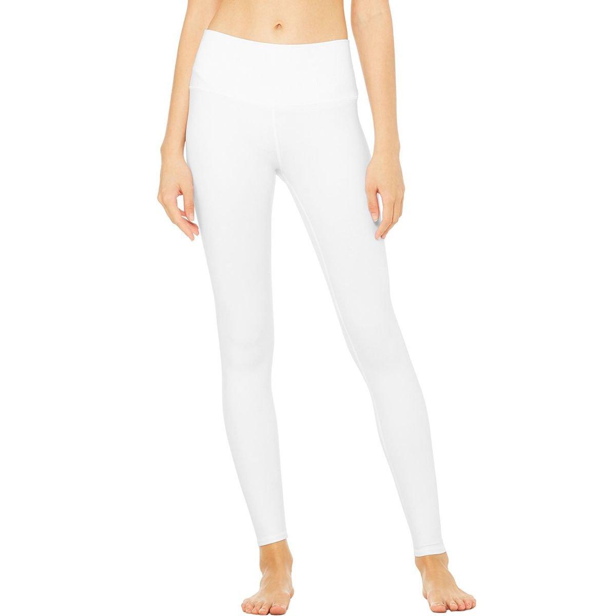 Alo Yoga Women's High Waist Airbrush Legging, White, XXS