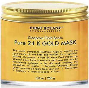 The BEST 24 K Gold Facial Mask 8.8 oz - Gold Mask for Anti Wrinkle Anti Aging Facial Treatment, Pore Minimizer, Acne Scar Treatment & Blackhead Remover