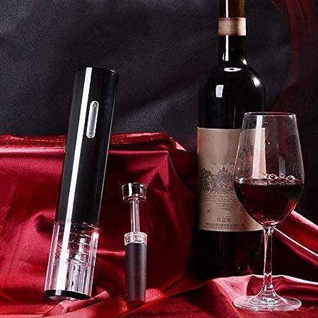 TETHYSUN Abrebotellas de vino Sacacorchos eléctrico eléctrico abridor de vino sacacorchos automático de botella de vino kit inalámbrico con cortador de lámina y vacío blanco (color: blanco)