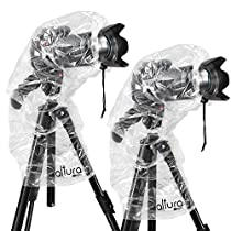 "(2 Pack) Altura Photo Rain Cover for DSLR Cameras with Lenses Up to 18"" Long"