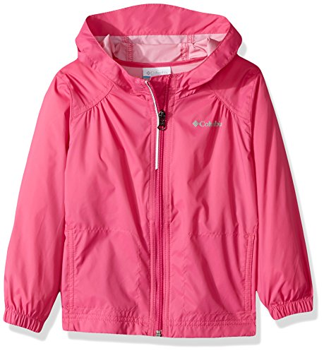 (Columbia Girls' Big Switchback Rain Jacket, Pink Ice, Large)