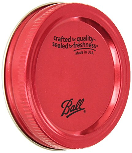 Ball Regular Mouth Colored Lids With Bands (Pack of 6 total lids)