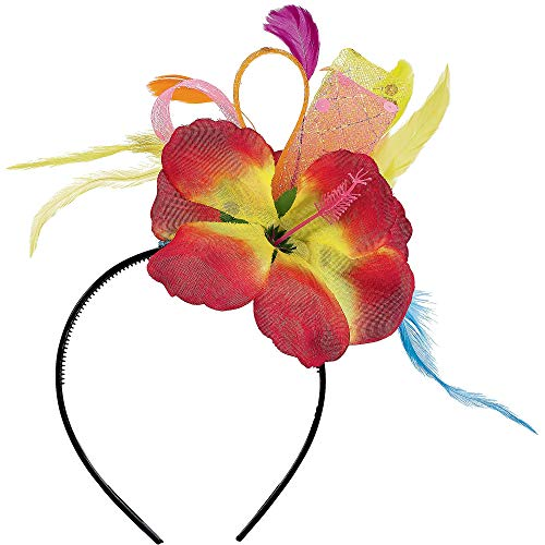 Amscan 395222 Beach Luau Costume Dress Up Party Headwear Accessory, Multicolor, One Size