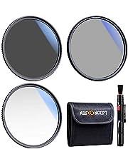 K&F Concept 46 mm UV CPL ND4 Lens Accessoire Filter Kit UV Protector Circulair Polarisatiefilter Neutrale Dichtheid Filter voor DSLR Camera's + Reinigingspen + Filter Bag Pouch