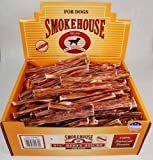 Smokehouse Steer Pizzles 6.5IN 600ct Beef Sticks