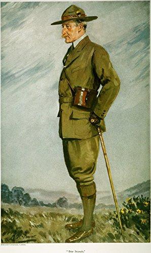 Póster de Lord Baden-Powell N(1857-1941) de Robert Stephenson Smyth Baden-Powell 1St Baron of Gilwell (Soldado inglés...