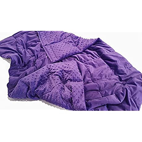 Super Soft Purple Chenille Breathable Weighted Sensory Blanket 16lb 48x70
