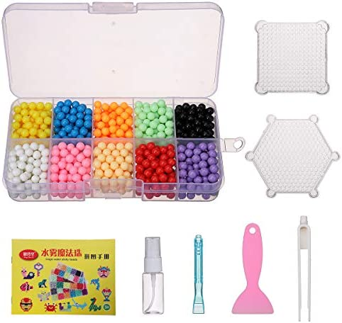 AVANI EXCHANGE 1100PCS Water Sticky Beads Magic Puzzle Kids Gift Fuse Sticky Bead 10 Colores: Amazon.es: Juguetes y juegos