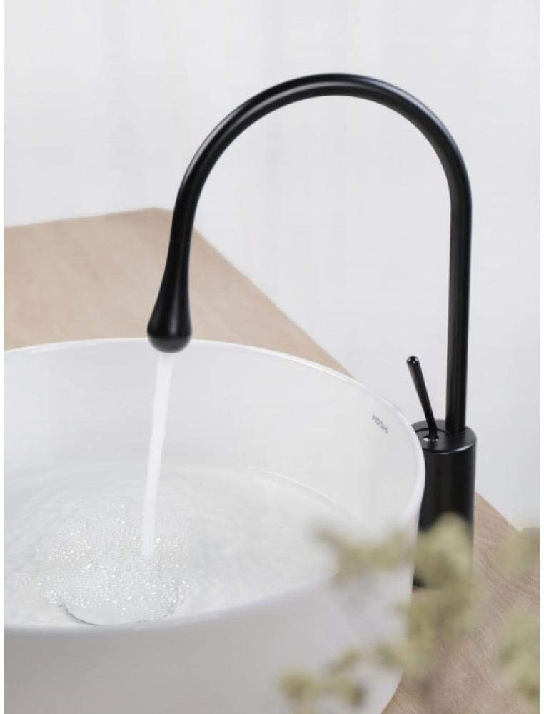 Slt Lever Faucet Sink Faucet Bubbler Tap Taps Modern Kitchen Sink Taps Handle Solid Taps Mixer Kitchen Tap with Home Nordic Taps Black Heightening Rotating Hot and Cold Basin Taps Basin Faucet Bathro