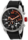 red line Men's RL-60001 Overdrive Chronograph Black Textured Dial Black Silicone Watch, Watch Central
