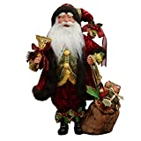 "16"" Inch Standing Whimsical Santa Claus Christmas Figurine Figure Decoration 41604"