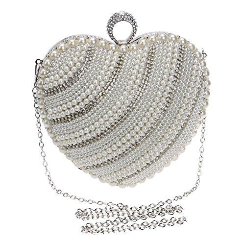 Evening Handbags Hand held Bag Banquet Pearl Women's HKC Luxury Evening Luxury Nightclubs Ladies 1 Exquisite xtwBvq7