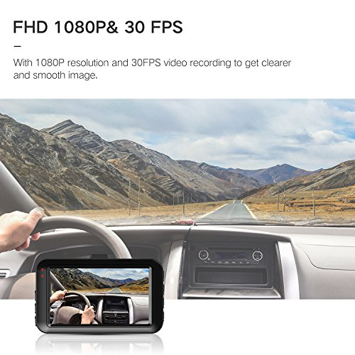 tryace dash cam fhd 1080p car dvr dashboard camera with 3 lcd screen parking mode wdr g. Black Bedroom Furniture Sets. Home Design Ideas