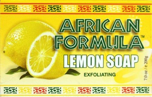 Exfoliating Formula - African Formula Soap - Lemon Exfoliating 7 oz. (Pack of 2)