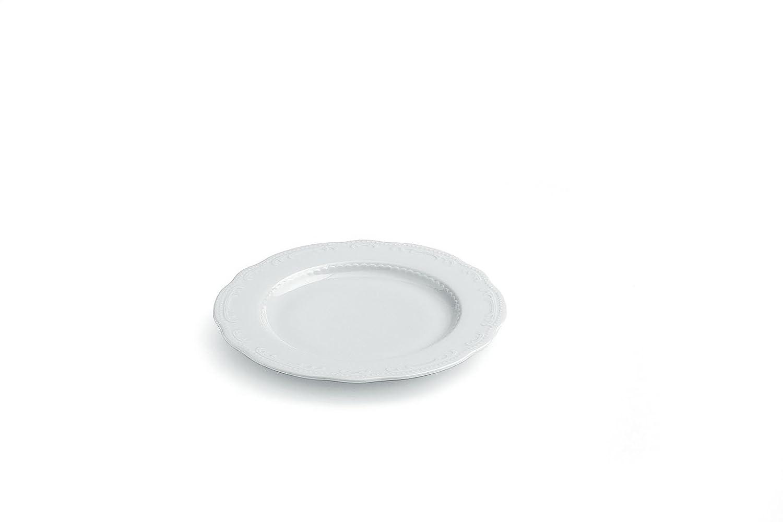 Tognana VW084230000 V. Wienna Set 6 Piatti Dessert, 22 Cm Tognana Porcellane S.p.A. piatto; frutta; dessert; bianco