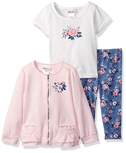 Little Lass Baby Girls' 3 Pc Ruffle Jacket Set Rose, Blush, (Ruffle Jacket Set)