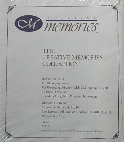 Creative Memories 8 X 10 Portrait Sleeves RCM-10P 5 Sheets 10 Pages