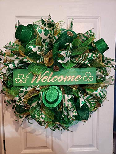 St. Patricks Day wreath (Fireplace Carl)