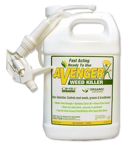 Avenger Organics Weed Killer for Organic Gardening, 1 Gallon