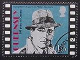 Humphrey Bogart as Philip Marlowe Movies -Framed Postage Stamp Art 6718