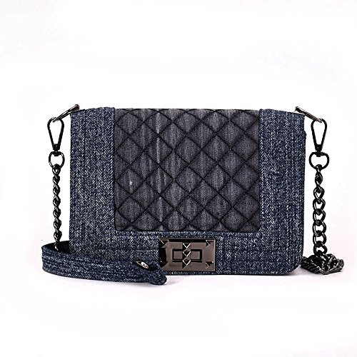 Martens 14 Eye Zip - GMYANDJB Shoulder Bags Women's Bags PU Leather Shoulder Bag Embossed Blue Black