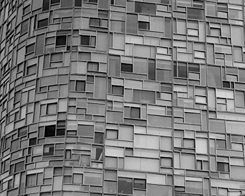 Black and White Architecture Photography, Modern Architecture Print, New York Glass Building and Windows, Abstract Wall Art, Minimal Art, Grey Wall Decor, Gift for Him by Natural Photography Spa