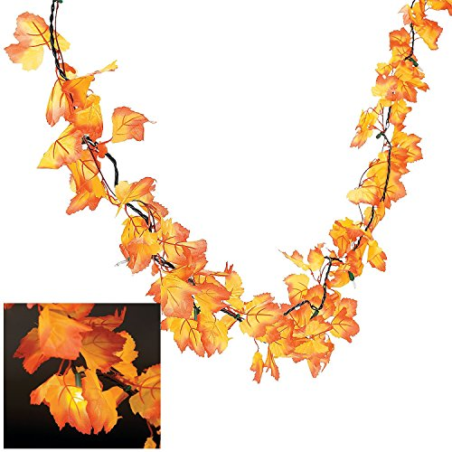 Autumn-Leaves-Lighted-Garland-Wreaths-and-Floral-Decorations