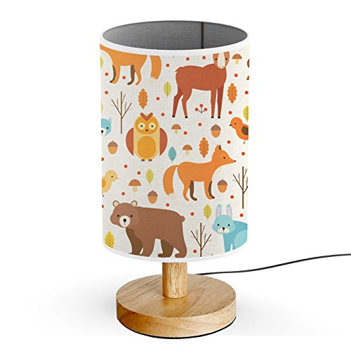 ArtLights - Wood Base Decoration Desk / Table / Bedside Lamp [ Forest Animals ] by ArtLights