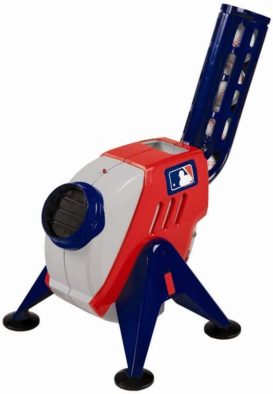 Franklin Sports Kids Pitching Machine - Plastic Baseball Pitching Machine for Kids Batting Practice - MLB Power Pitcher with Adjustable Speeds: Sports & Outdoors