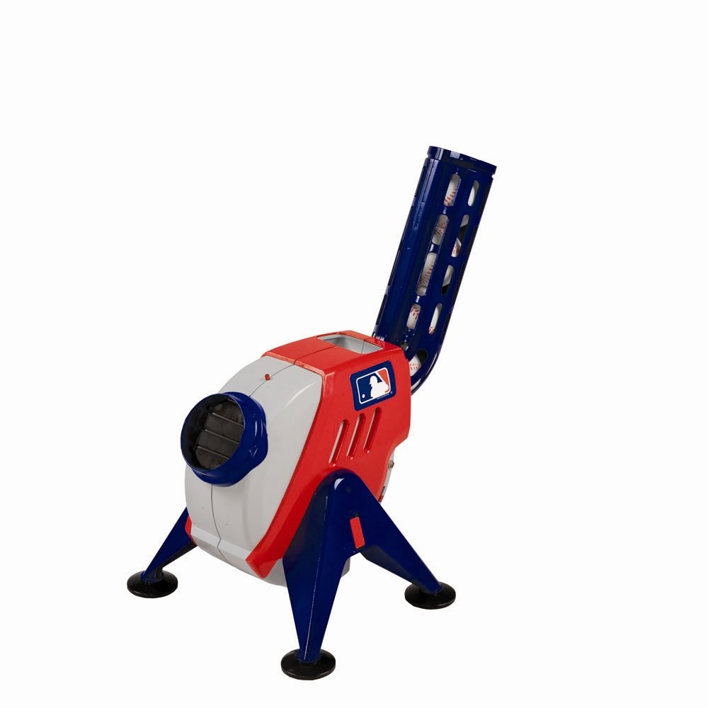 Franklin Sports Kids Pitching Machine - Plastic Baseball Pitching Machine for Kids Batting Practice - MLB Power Pitcher with Adjustable Speeds by Franklin Sports