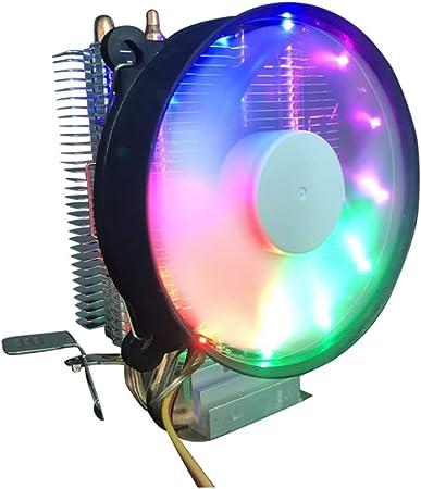 Zhhlaixing CPU Cooler Dual Fan PC Disipador de Calor RGB LED ...