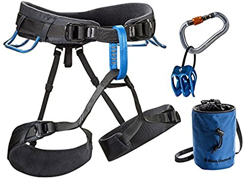 Black Diamond Momentum DS Harness Package Smoke XS/M & Cooling Towel Bundle