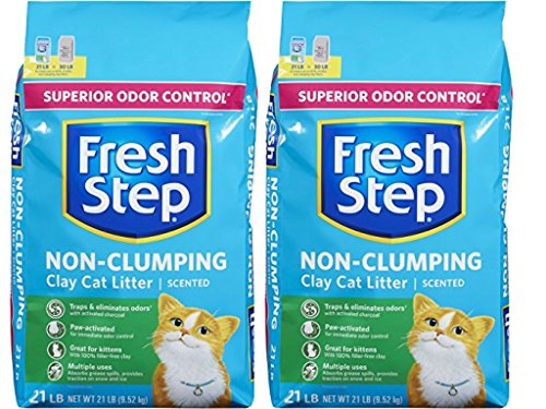 Fresh Step Extreme Clay, Non Clumping Cat Litter, Scented, 21 Pounds (2-Pack) - Extreme Odor Control