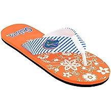 Campus Footnotes Women's 2018 College Team Zigzag Flower Print Flip Flops/Sandals (Pick Your Team)