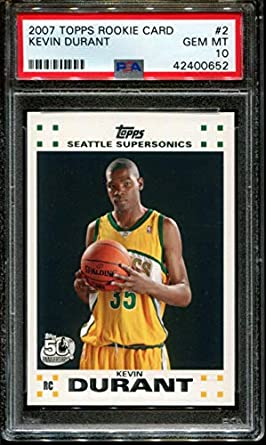buy online 0f733 b5e91 Amazon.com: 2007-08 Topps #2 Kevin Durant Rookie Graded PSA ...
