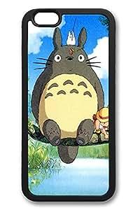 6 Plus Case, iPhone 6 Plus Case Ghibli My Neighbor Totoro Anime Fun TPU Silicone Gel Back Cover Skin Soft Bumper Case Cover for Apple iPhone 6 Plus