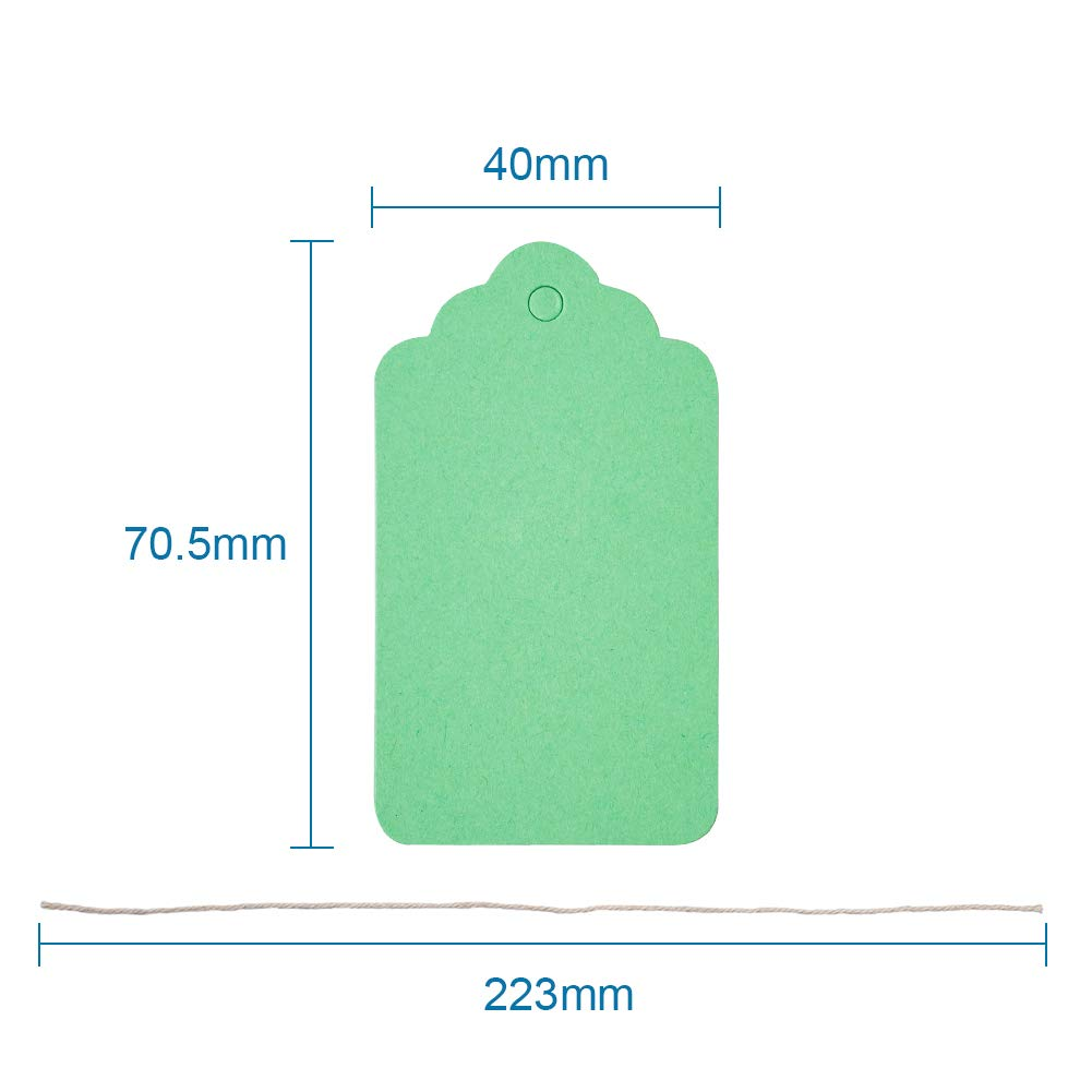 23x13mm Beadthoven 500pcs Jewelry Price Tags White Rectangle Item Price Label with String Price Paper Display for Jewelry Goods Clothing tags 7//8x1//2