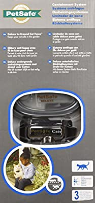 PetSafe In-Ground Cat Fence for Cats Over 6 lb, Waterproof, Tone and Static Correction, Stretch-Section Collar for Safety