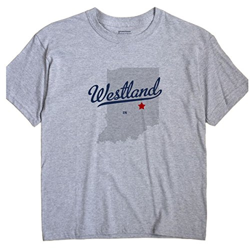 Westland Indiana IN MAP GreatCitees Unisex Souvenir T - Map Westland