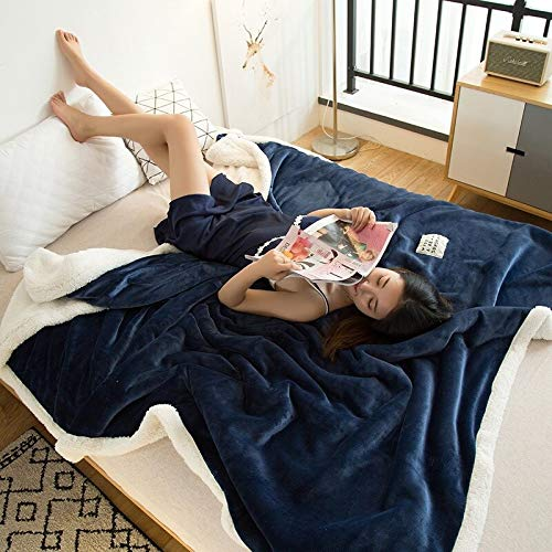 Cheap fumak Heavy Blanket - Weighted blanlet - Double-Layer Lamb Blankets for beds Pink Winter Weighted Blanket Fleece Super Soft Throw On Sofa Bed Sheets Blanket (6 100x120cm) Black Friday & Cyber Monday 2019