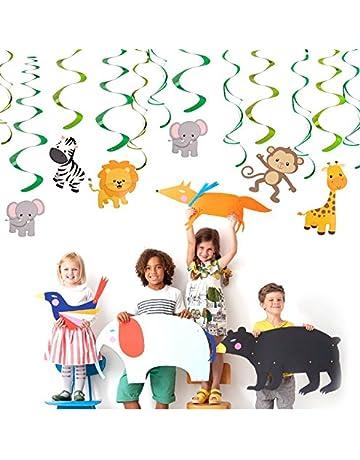 Guirlandes de f/ête Sir/ène Hanging Swirl D/écorations Kit Plafond Accueil D/écor pour Baby Shower Enfants danniversaire F/ête Sir/ène Suspendre Tourbillons Spirale et Happy Birthday Banni/ère